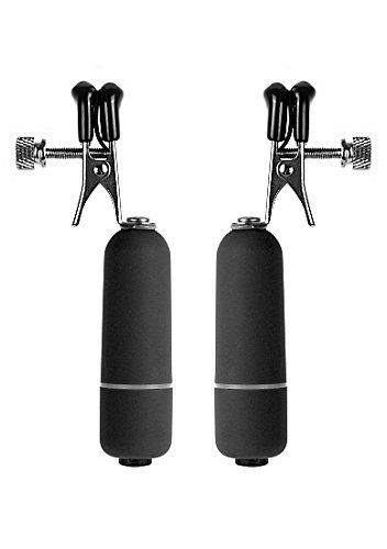 Ouch! Vibrating Nipple Clamps, Black